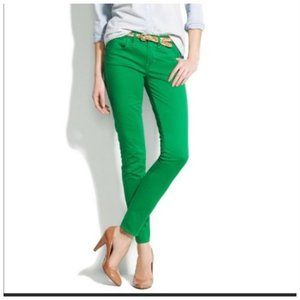 J Crew Toothpick SKINNY Green Ankle Jeans 29 x 28